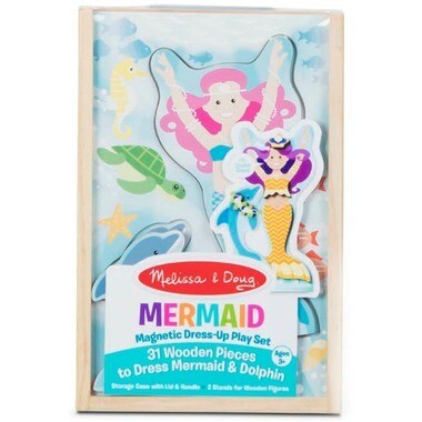 Melissa And Doug; Mermaid Magnetic Dress-Up Play Set
