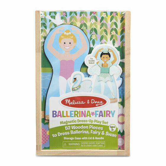 Melissa And Doug; Magnetic Dress-Up Play Set-Ballerina/Fairy