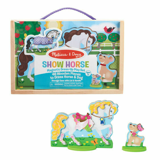 Melissa And Doug; Magnetic Dress-Up Play Set - Show Horse