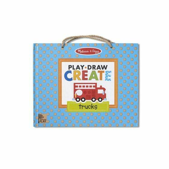 Melissa And Doug; Play, Draw, Create - Trucks