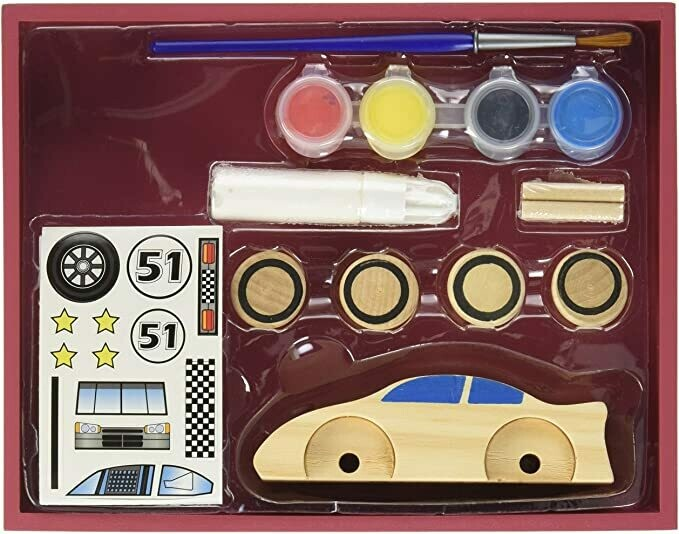 Melissa And Doug; Decorate Your Own: Race Car