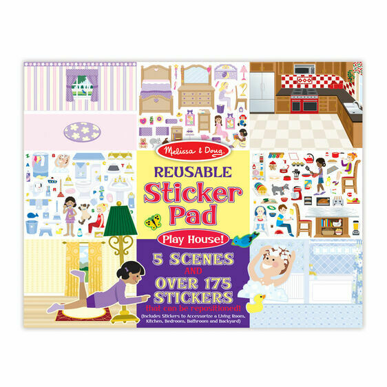 Melissa And Doug; Reusable Sticker Pad - Play House!