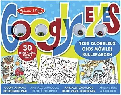 Melissa And Doug; Googly Eyes Colouring Pad - Goofy Animals