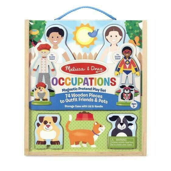 Melissa And Doug; Occupations Magnetic Pretend Play Set