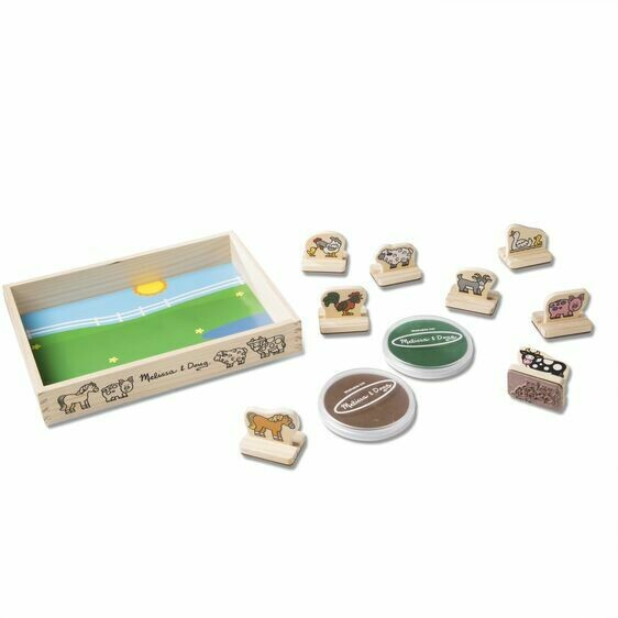 Melissa And Doug; My First Stamp Set - Farm Animals