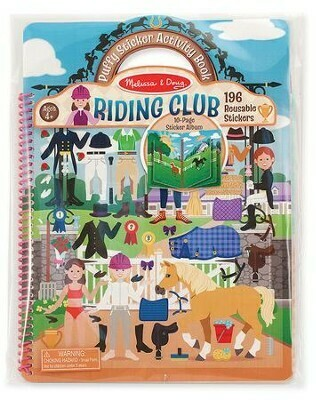 Melissa And Doug; Deluxe Puffy Sticker Album - Horse Scenes