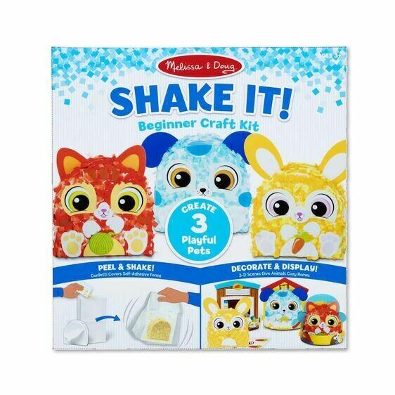 Melissa And Doug; Shake It! Beginner Craft Kit - Deluxe Pets
