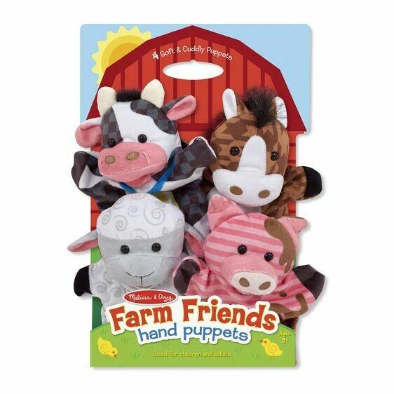 Melissa And Doug; Farm Hands Animal Puppets