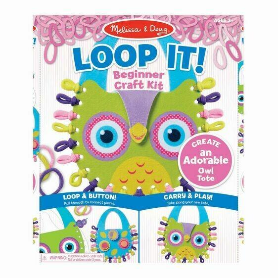 Melissa And Doug; Loop It! Beginner Craft Kit - Owl Tote