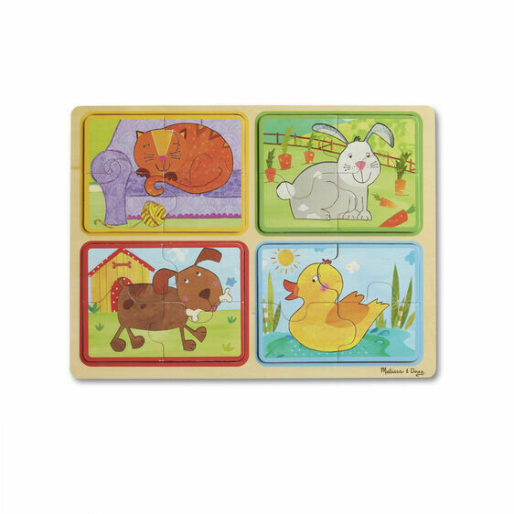Melissa And Doug; NP Wooden Puzzle: Playful Pals