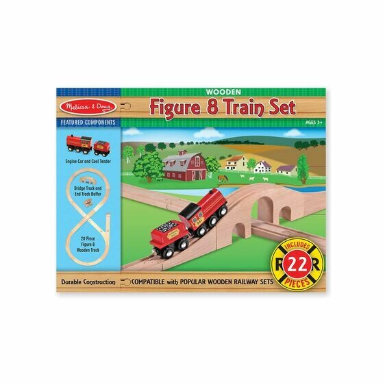 Melissa And Doug; Figure 8 Train Set