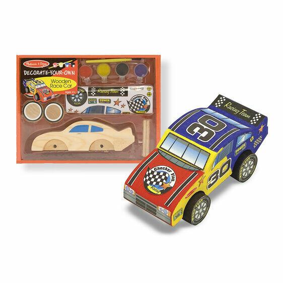 Melissa And Doug; Wooden Race Car - Dyo