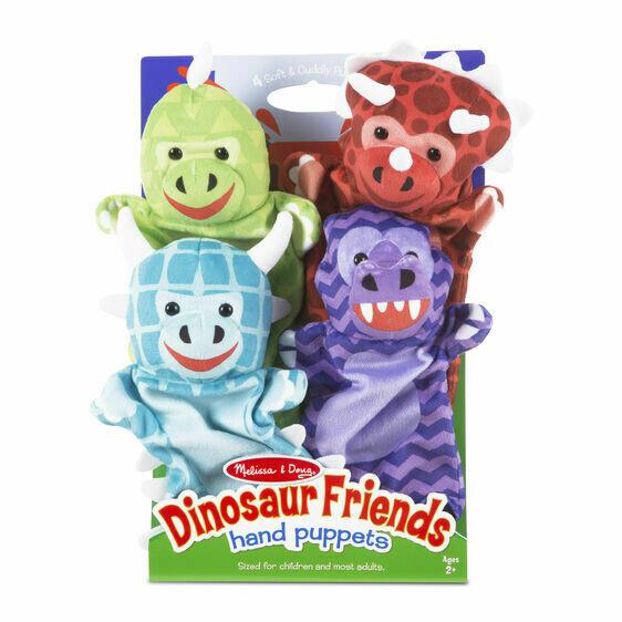 Melissa And Doug; Dinosaur Friends Hand Puppets