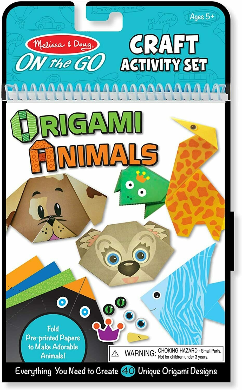Melissa And Doug; On-The-Go Crafts - Origami Activity Set - Animals