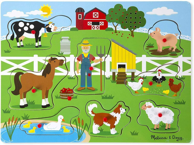 Melissa And Doug; Old Macdonald's Farm Sound Puzzle