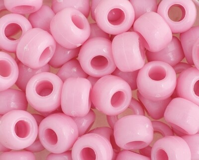 John Bead; Crowbeads Opaque 9Mm Pink