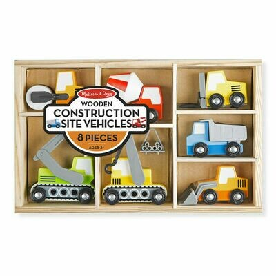 Melissa And Doug; Wooden Construction Site Vehicles