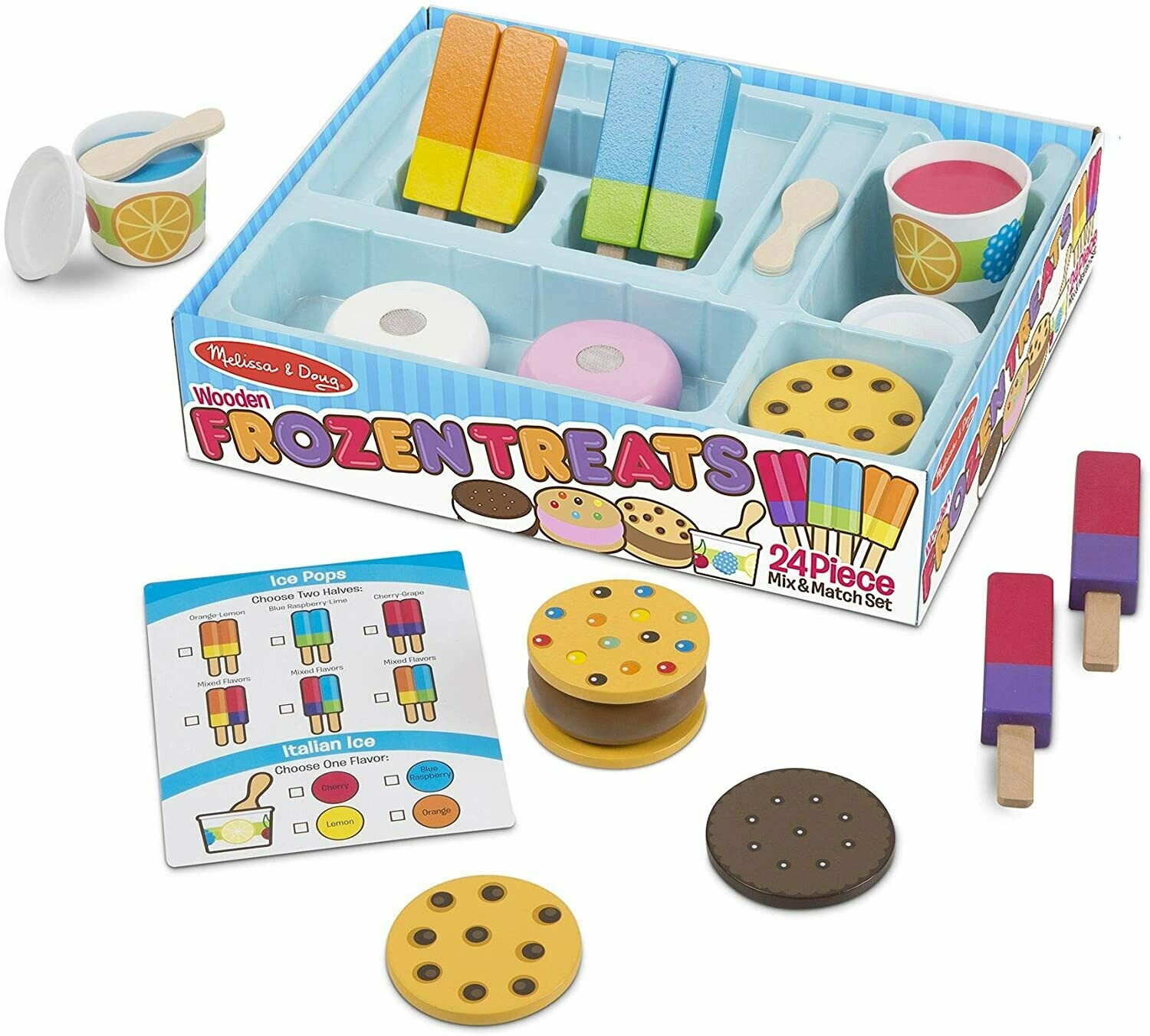 Melissa And Doug; Wooden Frozen Treats