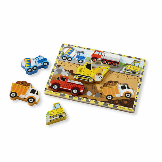 Melissa And Doug; Construction Chunky Puzzle