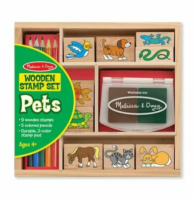 Melissa And Doug; Animal Stamp Set