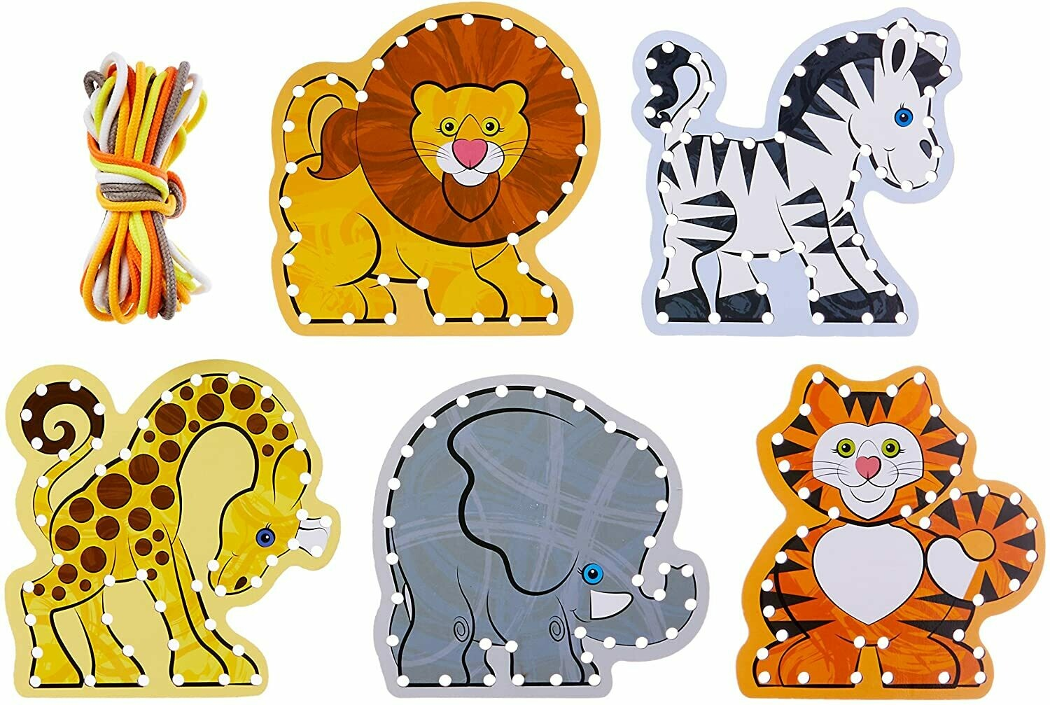 Melissa And Doug; Lace & Trace - Wild Animals
