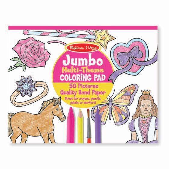 Melissa And Doug; Jumbo Colouring Pad - Pink