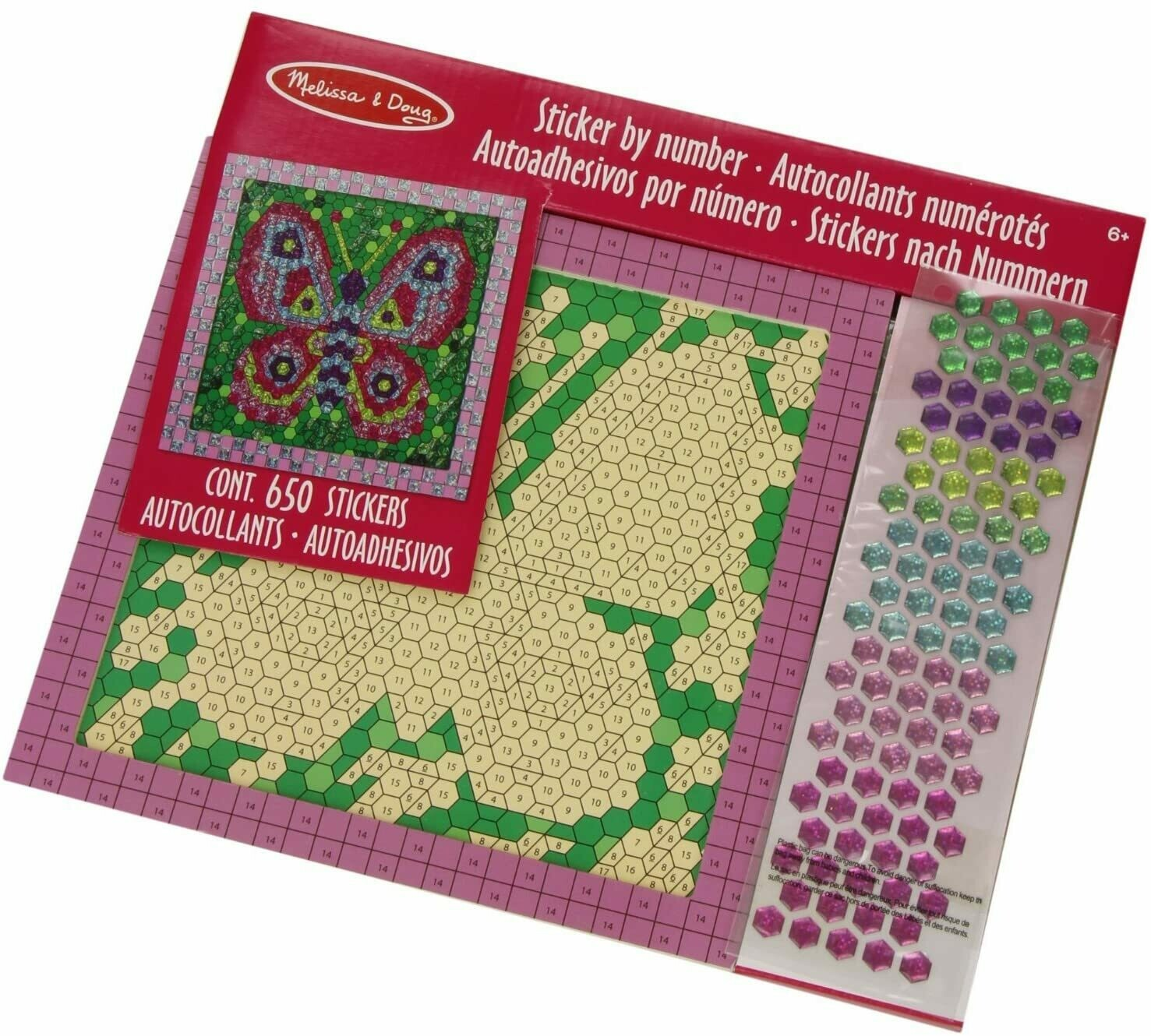 Melissa And Doug; Shiny Mosaics - Butterfly