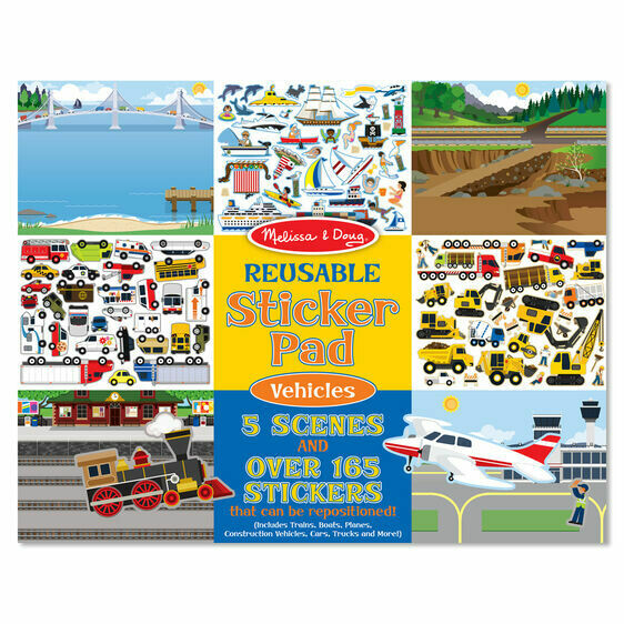 Melissa And Doug; Reusable Sticker Pad - Vehicles