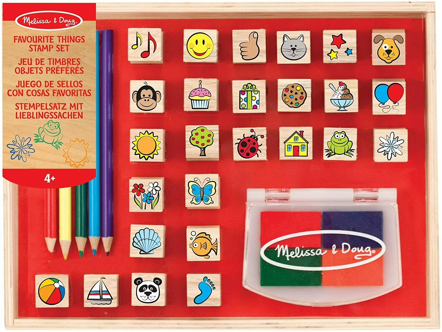 Melissa And Doug; Favourite Things Stamp Set