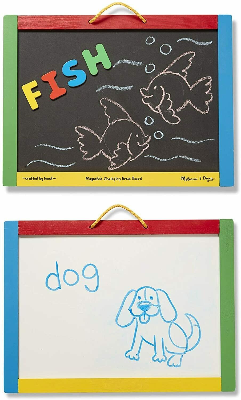 Melissa And Doug; Magnetic Chalkboard/Dry-Erase Board