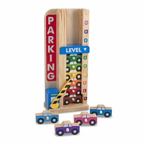 Melissa And Doug; Stack And Count Parking Garage
