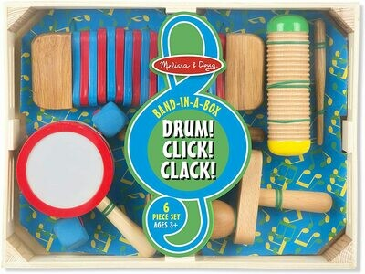 Melissa And Doug; Band-In-A-Box Drum! Click! Clack!