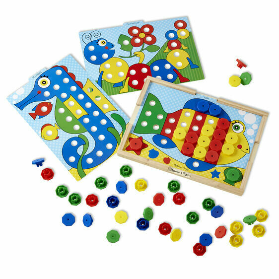Melissa And Doug; Sort-And-Snap Colour Match