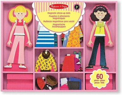 Melissa And Doug; Abby & Emma Magnetic Wooden Dress-Up Dolls