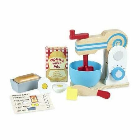 Melissa And Doug; Wooden Make-A -Cake Mixer Set