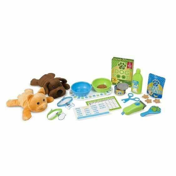 Melissa And Doug; Feeding And Grooming Pet Care Play Set