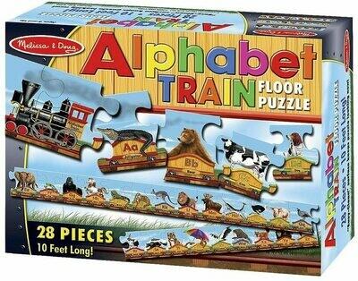 Melissa And Doug; Alphabet Train Floor (28 Pc)