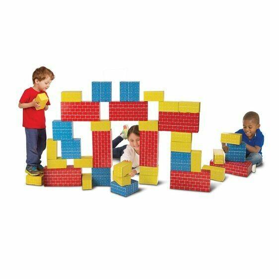 Melissa And Doug; Deluxe Jumbo Cardboard Blocks (40 Pc)