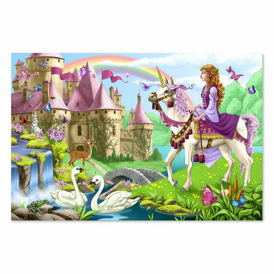 Melissa And Doug; Fairy Tale Castle Floor Puzzle (48 Pc)