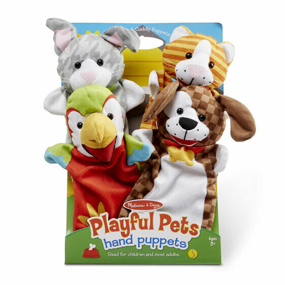 Melissa And Doug; Playful Pets Hand Puppets