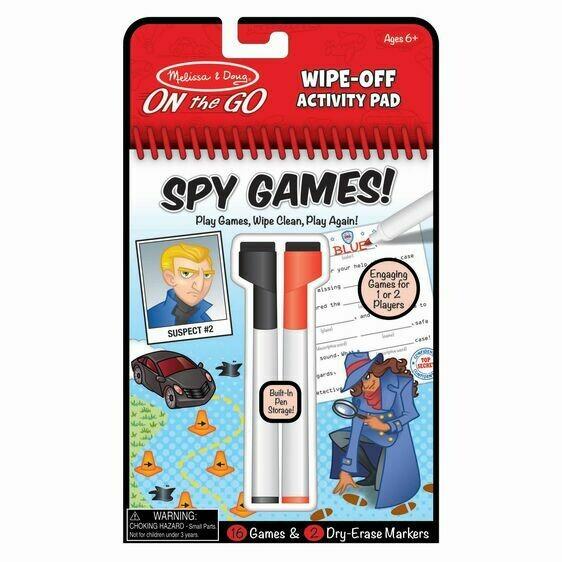 Melissa And Doug; Wipe-Off Activity Pad - Spy