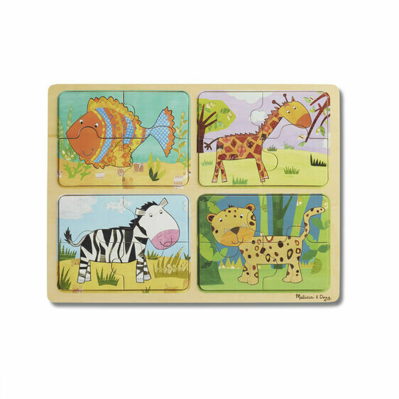 Melissa And Doug; Np Wooden Puzzle: Animal Patterns