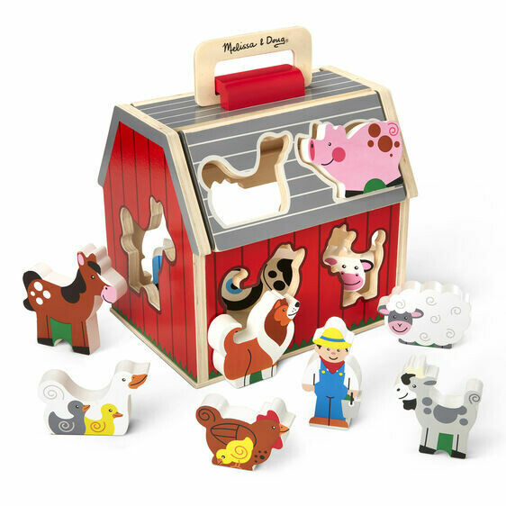 Melissa And Doug; Take Along Sorting Barn