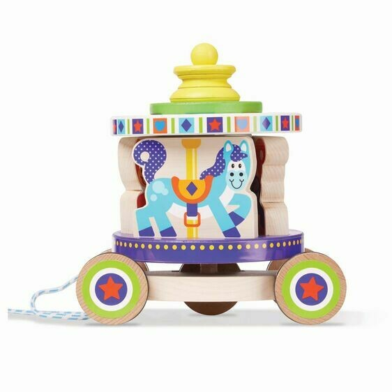 Melissa And Doug; Carousel Pull Toy