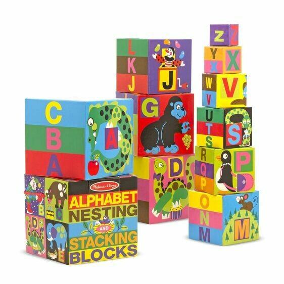 Melissa And Doug; English Alphabet Nesting And Stacking Blocks (Uc)