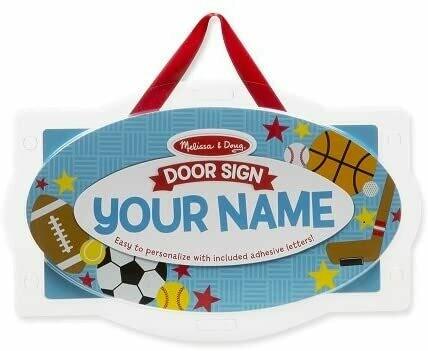 Melissa And Doug; Sports Door Plaque