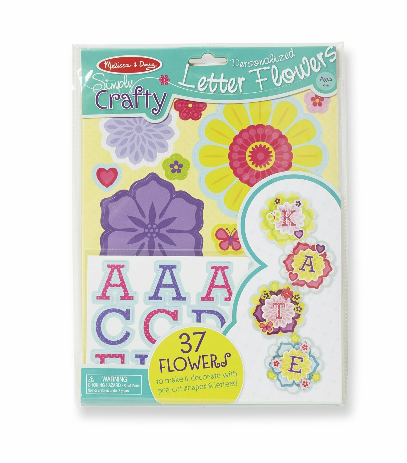 Melissa And Doug; Simply Crafty - Personalized Letter Flowers