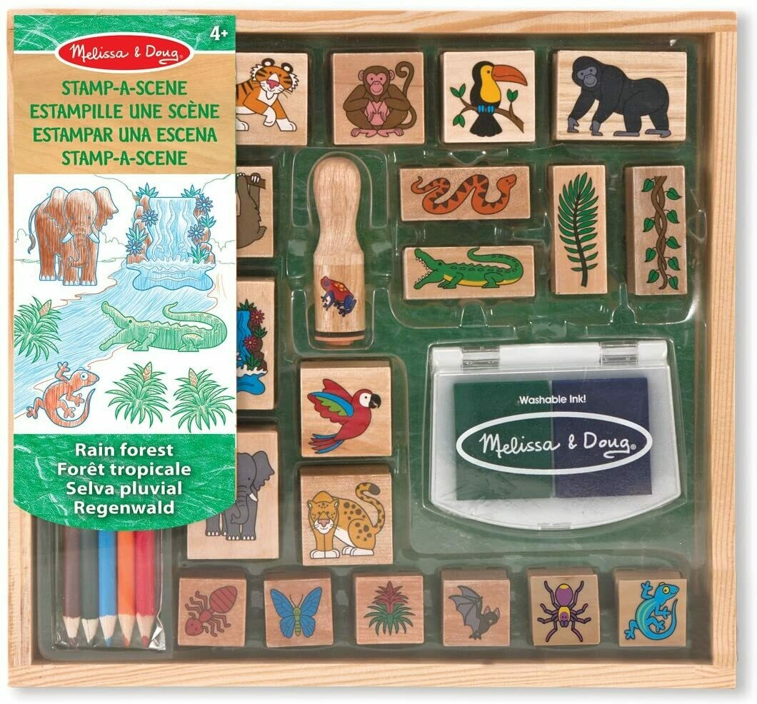Melissa And Doug; Stamp-A-Scene - Rain Forest