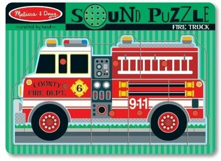 Melissa And Doug; Fire Truck Sound Puzzle