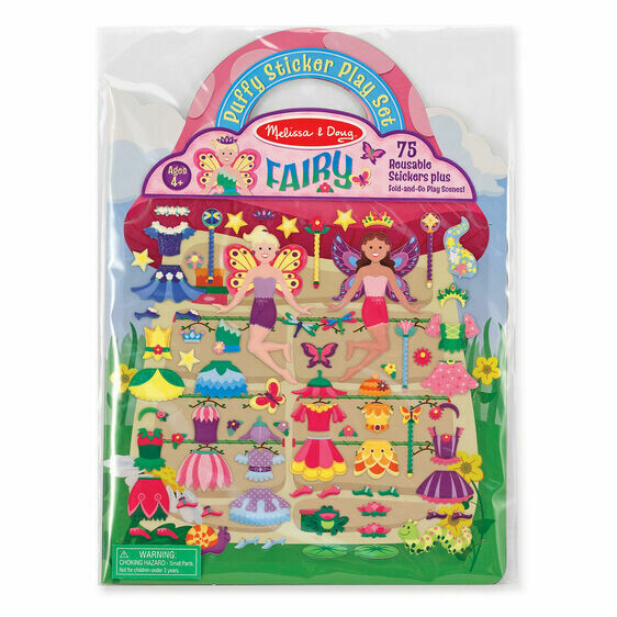 Melissa And Doug; Reusable Puffy Stickers - Fairies